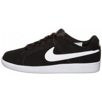 Chaussures Homme Baskets basses Nike COURT ROYALE SUEDE BLACK WHITE Noir