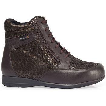 Chaussures Femme Baskets montantes Calzamedi BOTTES  DIABETIQUES DOUBLE BALANCES ZIPPER W MARRON