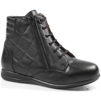 Chaussures Femme Baskets montantes Calzamedi BOTTES  DIABETIQUES DOUBLE BALANCES ZIPPER W BLACK