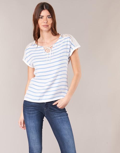 Vêtements Femme Tops / Blouses Casual Attitude IYUREOL Blanc / Bleu