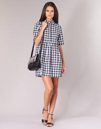 Vêtements Femme Robes courtes Moony Mood IKAMAL Blanc / Noir