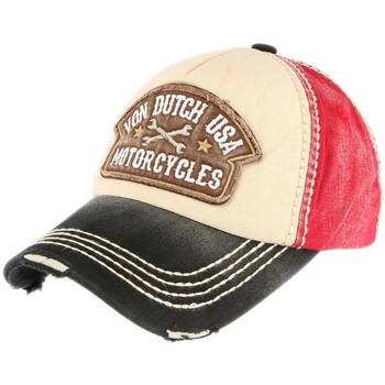 Accessoires textile Homme Casquettes Von Dutch Casquette  Rouge et Noire Dylan Motorcycles Rouge
