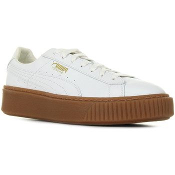 Chaussures Femme Baskets basses Puma Basket Platform Core blanc