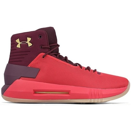 Under Armour Drive 4 Blanc-Rouge - Chaussures Basket montante Homme