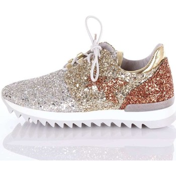 Chaussures Femme Baskets basses Patrizia Pepe SV7049A2QL Sneakers Femme Argent  or cuivre Argent  or cuivre