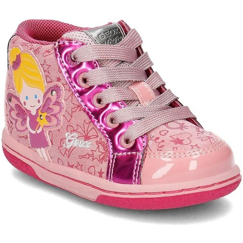 Chaussures Enfant Baskets montantes Geox Baby Flick Rose