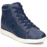 Chaussures Femme Baskets montantes Lacoste Carnaby Evo Wedge Bleu