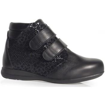 Chaussures Femme Mocassins Calzamedi BOTTES  DOUBLE PEAU IMPRIMÉ W BLACK