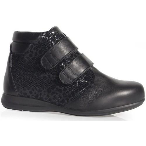 Calzamedi BOTTES  DOUBLE PEAU IMPRIMÉ W BLACK - Chaussures Mocassins Femme