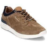 Chaussures Homme Baskets basses Pepe jeans Jayden Suede Marron