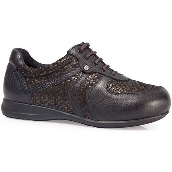 Chaussures Femme Baskets basses Calzamedi CHAUSSURES  PELLE ELASTIQUE DIABETIQUE W BROWN