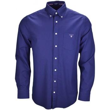 Vêtements Homme Chemises manches longues Gant Chemise  bleu marine à pois rouge pour homme Bleu
