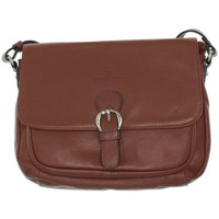 Sacs Homme Besaces Hexagona Sac porté travers  en cuir ref_xga42105-co marron