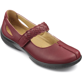 Chaussures Femme Ballerines / babies Hotter Femmes Chaussures Casual Rouge Foncé Cuir rouge