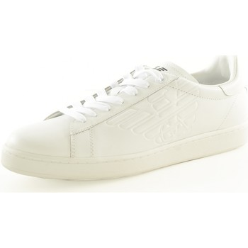 Chaussures Homme Baskets basses Armani Sneakers Cuir Logo New Classic 278049 Cc299 - les BLANCS