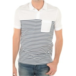 Vêtements Homme Polos manches courtes Jack & Jones Polo Coton Rayé April  - les BLANCS