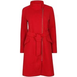 Vêtements Femme Parkas Anastasia Manteau d'hiver zippé pour femmes avec ceinture Red