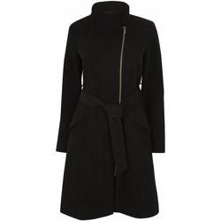 Vêtements Femme Parkas Anastasia Manteau d'hiver zippé pour femmes avec ceinture Black