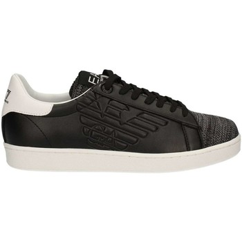 Chaussures Homme Baskets basses Armani Sneakers Cuir Logo Classic 278080 - les NOIRS