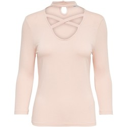 Vêtements Femme Tops / Blouses Only Top Stretch Col Fantaisie Cross  - les ROSES