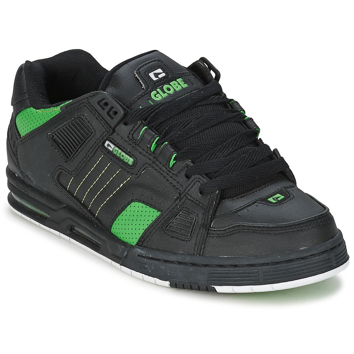 Globe SABRE Noir   Vert - Livraison Gratuite avec Spartoo.com ! -  Chaussures Baskets basses Homme 87,20 € 730080ec0ef3