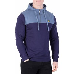 Vêtements Homme Sweats Lyle & Scott Homme Sweat à capuche 1/4 zip, Bleu bleu