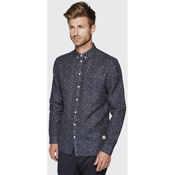 Vêtements Homme Chemises manches longues Minimum DUXFORD DARK NAVY Bleu Marine