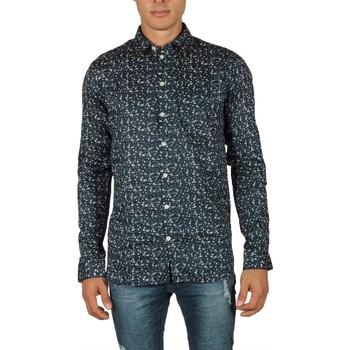 Vêtements Homme Chemises manches longues Minimum TRAMONTO IVORY Bleu