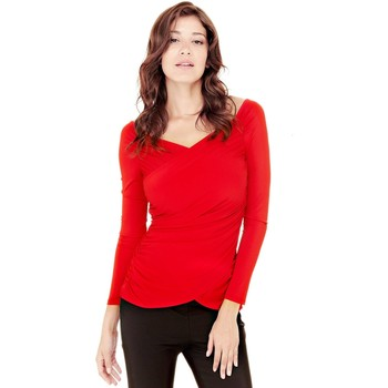 Vêtements Femme Tops / Blouses Guess Top Rory Rouge W74P73 8