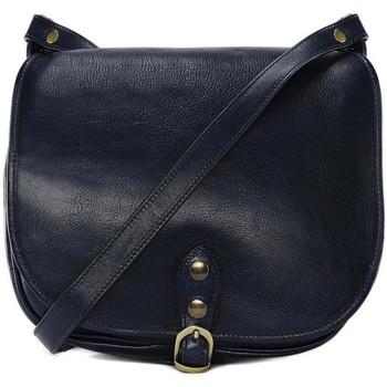 Sacs Femme Sacs porté épaule Oh My Bag Sac à main femme cuir souple - Modèle Verlaine (petit modele) bl BLEU FONCE