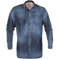 Vêtements Homme Chemises manches longues Pearly King STARIN Bleu Denim