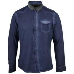 Vêtements Homme Chemises manches longues Pearly King POTENT Bleu Marine