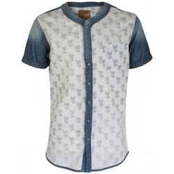 Vêtements Homme Chemises manches courtes Pearly King ECHO Blanc Bleu