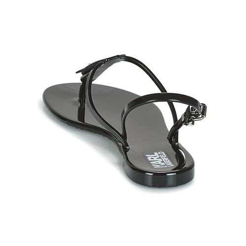 Et Jelly pieds Sandales Sling Nu Ikonic Karl Femme Noir Lagerfeld n8Owk0PX