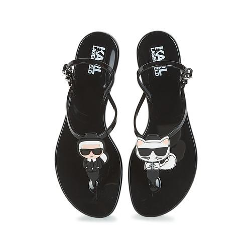 Et pieds Femme Sandales Sling Noir Nu Karl Lagerfeld Jelly Ikonic D9YeWHE2I