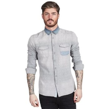 Vêtements Homme Chemises manches longues Pearly King MUSTANG Gris / Bleu