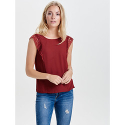 Vêtements Femme Tops / Blouses Only TOP  onlERIKA VENICE S/L TOP BOX WVN ROJO