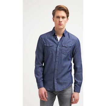 Vêtements Homme Chemises manches longues Armani jeans C6C19 Bleu Denim