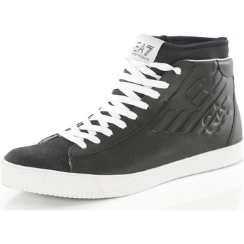 Chaussures Homme Baskets montantes Armani Sneakers Montantes Cuir 278058 - les NOIRS