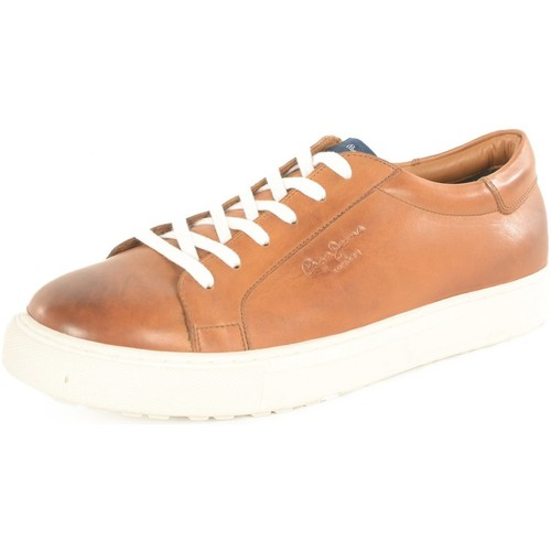 Chaussures Homme Baskets basses Pepe jeans Chaussures Cuir Pms30323 Norwich  -  Type: Baskets Bas les MARRONS