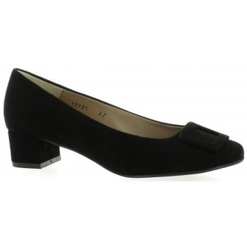 Chaussures Femme Escarpins So Send Escarpins cuir velours Noir