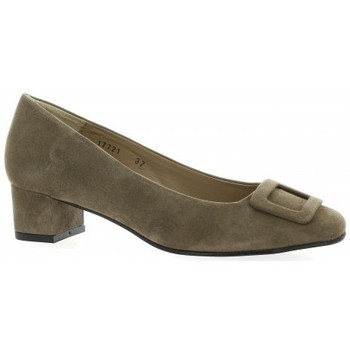 Chaussures Femme Escarpins So Send Escarpins cuir velours Taupe