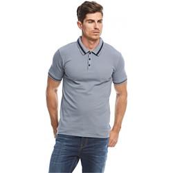 Vêtements Homme Polos manches courtes Guess Polo Homme Andy Gris M74P46 35
