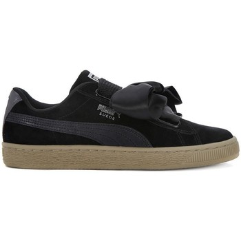 Chaussures Femme Baskets basses Puma Basket Heart Safari Noir