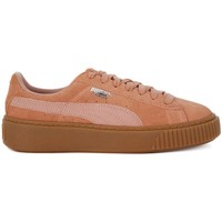 Chaussures Femme Baskets basses Puma Suede Platform Animal Miel