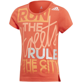 Vêtements Enfant T-shirts manches courtes adidas Performance T-shirt  T-shirt Lg Graphic orange