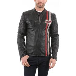 Vêtements Vestes en cuir / synthétiques Gipsy Ciro Noir Noir