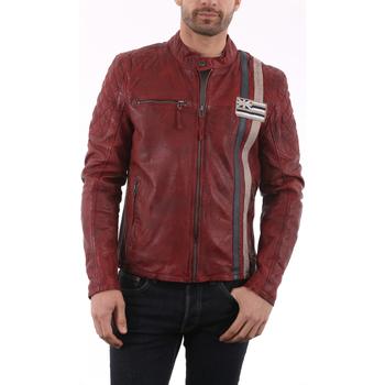 Vêtements Vestes en cuir / synthétiques Gipsy Ciro Rouge Rouge