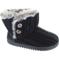 Chaussures Femme Boots Dearfoams Cable Knit Two Noir