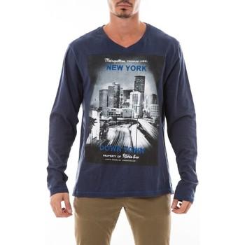 Vêtements Homme T-shirts manches longues Ritchie T-SHIRT JOSS Bleu